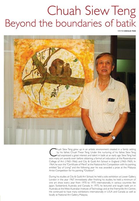 Artist Chuah Siew Teng