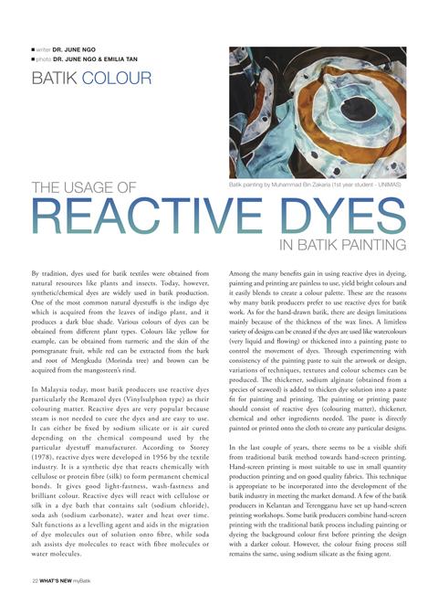 Batik Dye talk