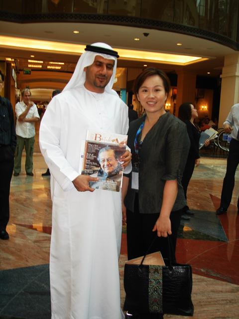 Ms. Emilia with Dubai Police General Capt. Masoud Ibrahim Al Hammad