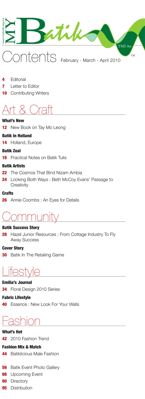 myBatik magazine #9 content