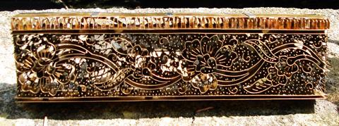 batik copper blok for sarong border design