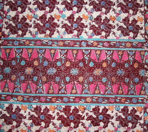 Terengganu batik block printed sarong, also know as sarong cap