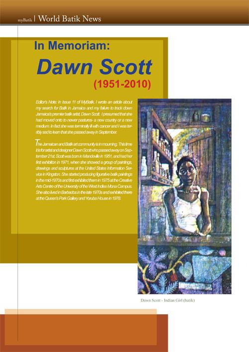 World Batik News: Dawn Scott
