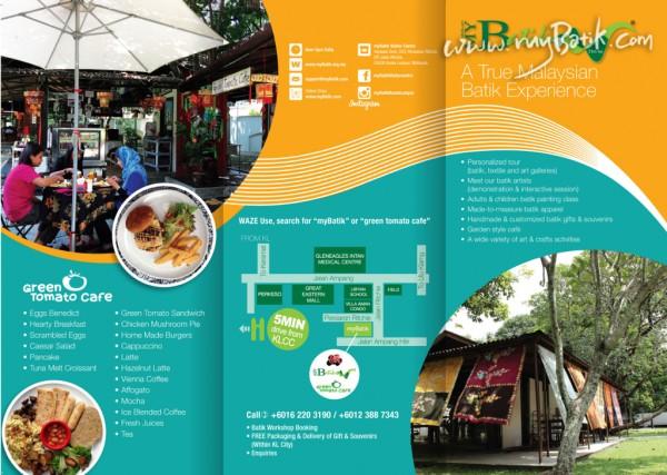 myBatik & Green Tomato Cafe is located at yayasan seni, 333 persiaran ritchie off jalan ritchie, 55000 K.L. ( batik workshop enquiry call 0122579775 / 0342515154)