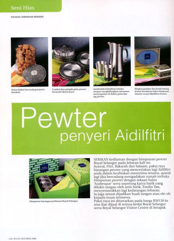 """2006 Jelita """" Emilia's Batik & Royal Selangor """""""