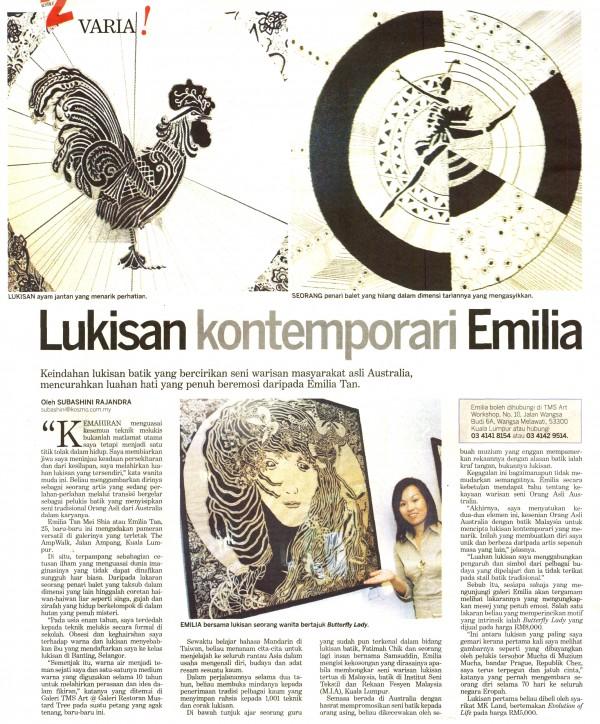 """2006 Kosmo News """" Lukisan Kontemporari Emilia"""""""