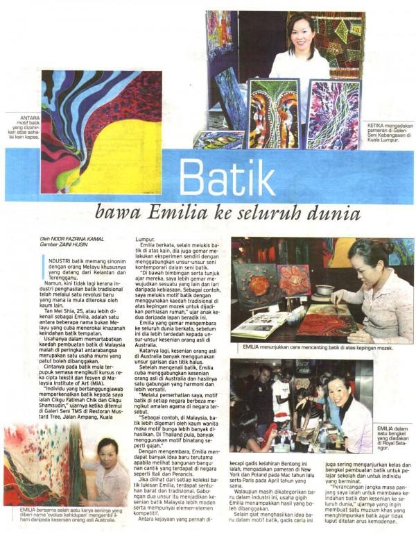 """2007 UTUSAN """" Batik Bawah Emilia ke Seluruh Dunia"""""""