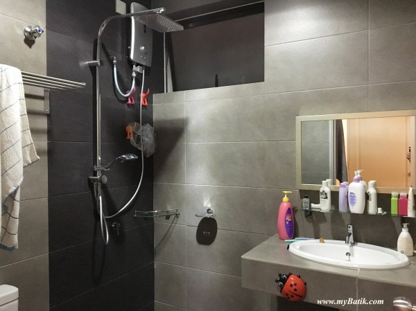 standard bathroom for all the rooms, come with water heater